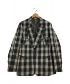 ()の古着「デザイン2Bジャケット」|ベージュ×ブラック