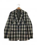 Paul Smith COLLECTION(ポールスミス コレクション)の古着「デザイン2Bジャケット」 ベージュ×ブラック