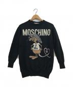 MOSCHINO(モスキーノ)の古着「rat a porter pullover」|ブラック