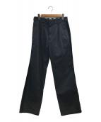 ()の古着「サイドラインワークパンツ」 ブラック