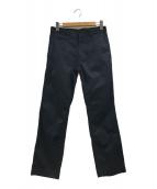 ()の古着「コットンストレートパンツ」 ブラック