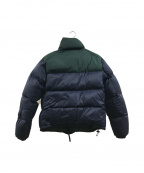 LACOSTE()の古着「STAND-UP COLLAR CONCEALED HOOD」|ネイビー×グリーン
