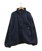 flagstuff(フラグスタフ)の古着「フリースジャケット」|ネイビー