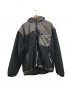 flagstuff(フラグスタフ)の古着「ボアフリースフーデッドジャケット」|ブラウン