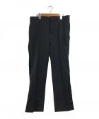 Maison Margiela(メゾンマルジェラ)の古着「サイドボタンデザインスラックス」|ブラック