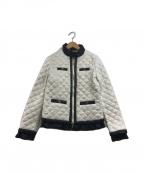 LOVE MOSCHINO(ラブモスキーノ)の古着「キルティングジャケット」 ホワイト