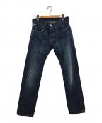 Denim & Supply Ralph Lauren(デニム&サプライ ラルフローレン)の古着「ペイズリーポケットダメージ加工パンツ」|インディゴ