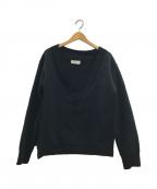 NEON SIGN(ネオンサイン)の古着「V-NECK SWEAT」|ブラック