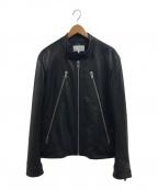 Maison Margiela(メゾンマルジェラ)の古着「八の字ライダース」|ブラック
