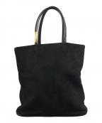GUCCI(グッチ)の古着「スエードハンドバッグ」|ブラック
