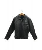 ()の古着「ライナー付A-2レザージャケット」 ブラック