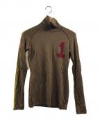 Christian Dior(クリスチャン ディオール)の古着「ラスタカラータートルネックニット」|ブラウン