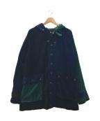 AiE(エーアイイー)の古着「クレイジパターンベルベットジャケット」 マルチカラー
