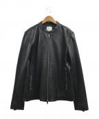 UNITED TOKYO(ユナイテッドトウキョウ)の古着「シングルラムレザージャケット」 ブラック