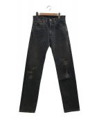 ()の古着「セルビッチデニムパンツ」|ブラック