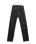 LEVI'S VINTAGE CLOTHING(リーバイスヴィンテージクロージング)の古着「セルビッチデニムパンツ」 ブラック