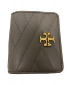 ()の古着「キルティング2つ折り財布」 ベージュ