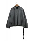 ()の古着「ハーフジップシャツロングスリーブ」|グレー