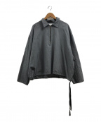 URU(ウル)の古着「ハーフジップシャツロングスリーブ」|グレー
