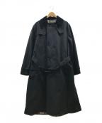 Barbour(バブアー)の古着「2レイヤートレンチコート」|ブラック