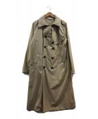 ()の古着「ナイロントレンチコート」 ベージュ