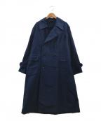 45R(フォーティファイブアール)の古着「製品染めインディゴトレンチコート」|インディゴ