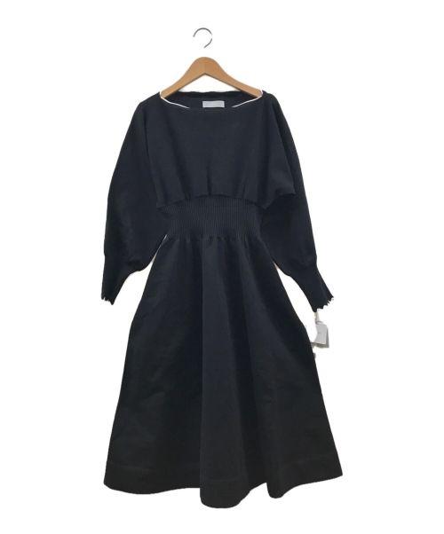 CELFORD(セルフォード)CELFORD (セルフォード) スカラップニットワンピース ブラック サイズ:38の古着・服飾アイテム