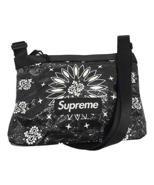 SUPREME(シュプリーム)SUPREME (シュプリーム) Bandana Tarp Side Bag ブラックの古着・服飾アイテム