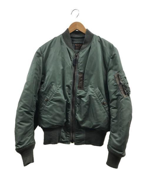 THE REAL McCOY'S(ザリアルマッコイズ)THE REAL McCOY'S (ザリアルマッコイズ) MA-1ジャケット オリーブ サイズ:Lの古着・服飾アイテム