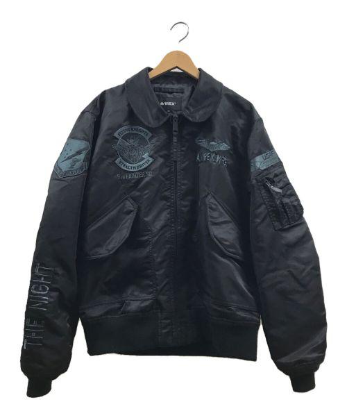AVIREX(アヴィレックス)AVIREX (アヴィレックス) ナイトフォークフライトジャケット ブラック サイズ:XLの古着・服飾アイテム