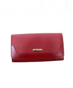 BURBERRY(バーバリー)の古着「レザー長財布」|レッド