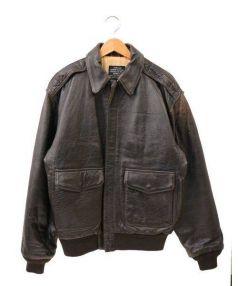 AVIREX(アヴィレックス)の古着「A-2レザージャケット」|ダークブラウン