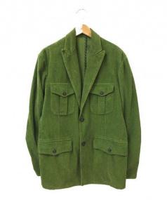 ETRO(エトロ)の古着「コーデュロイジャケット」|イエローグリーン