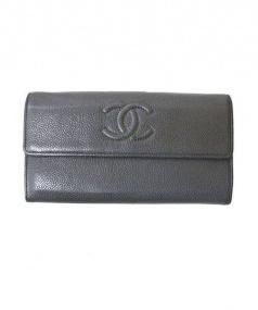 CHANEL(シャネル)の古着「ココマーク長財布」|グレー