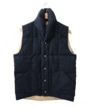 Mt. Rainier Design(マウントレイニアデザイン)の古着「MELTON shawl collar vest」|ネイビー