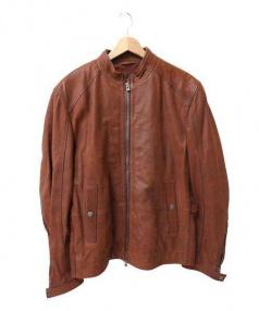 HUGO BOSS(ヒューゴボス)の古着「ゴートレザージャケット」|ブラウン