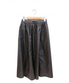 Ron Herman(ロンハーマン)の古着「フェイクレザースカート」|ブラウン