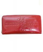 Samantha Thavasa PETIT CHOICE(サマンサタバサプチチョイス)の古着「ラウンドファスナー財布」|レッド