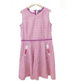 SONIA RYKIEL(ソニア リキエル)の古着「ノースリーブワンピース」 ピンク