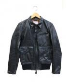 Duffer(ダファー)の古着「カウレザースポーツレザージャケット」|ブラック
