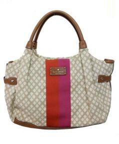 Kate Spade(ケイトスペード)の古着「CLASSIC SPADE STEVIE tote bag」|ベージュ×ブラウン