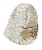 Athena New York(アシーナニューヨーク)の古着「レースハット」|ベージュ