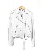 DRWCYS(ドロシーズ)の古着「ゴートレザーライダースジャケット」|ホワイト