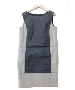 BERARDI(ベラルディ)の古着「ノースリーブデニムワンピース」|インディゴ