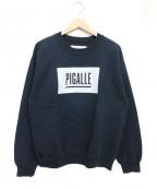 PIGALLE(ピガール)の古着「BOXロゴスウェット」 ブラック
