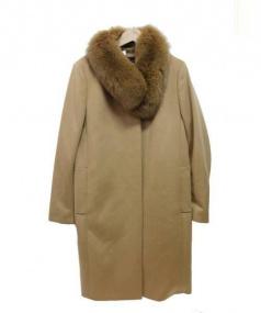 22 OCTOBRE(ヴァンドゥーオクトーブル)の古着「カシミヤロングコート」 ベージュ