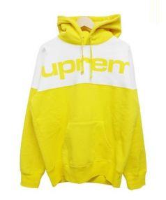 SUPREME(シュプリーム)の古着「Blocked Hooded Sweatshirt」|イエロー