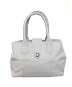 SAMANTHA KINGZ(サマンサキングズ)の古着「キャンバスレザートートバッグ」 ホワイト