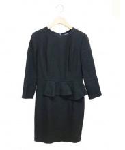 BERARDI(ベラルディ)の古着「カットソーペプラムワンピース」|ブラック