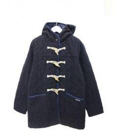LAVENHAM(ラベンハム)の古着「ナッピング加工キルティングダッフルコート」|ネイビー